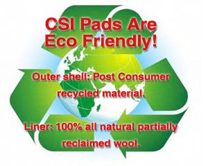 csi saddle pads are eco friendly