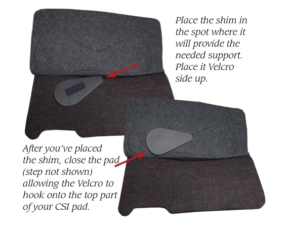 placing a shim on a csi saddlepad