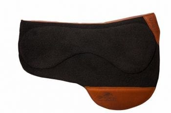 30-inch black wool sportcut pad with brown leather