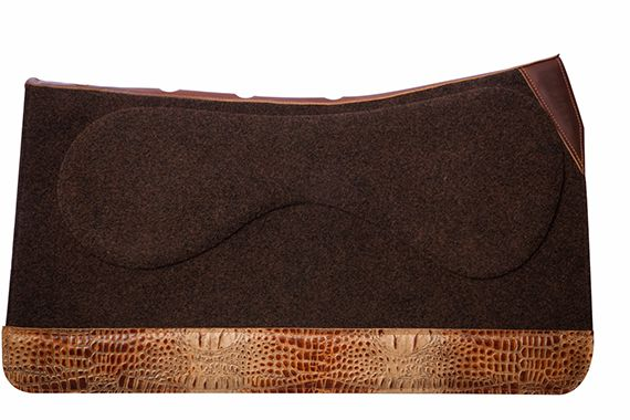32 in Saddle Pad Brown Brown Tan Gator Fullwear Leather