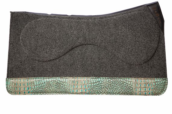 32 in Saddle Pad Gray Turquoise Gator Full Wear
