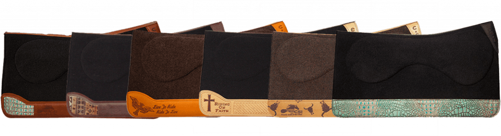 CSI Saddle Pad offers a variety of customize options that allow you to personalize and make your saddle your very own | Call to order your own custom saddle pad today