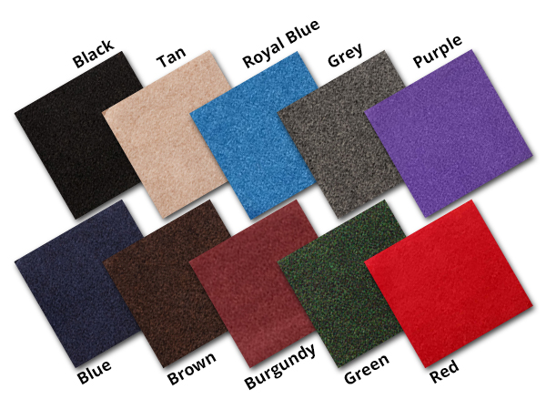 CSI Saddle Pad Carpet Swatches