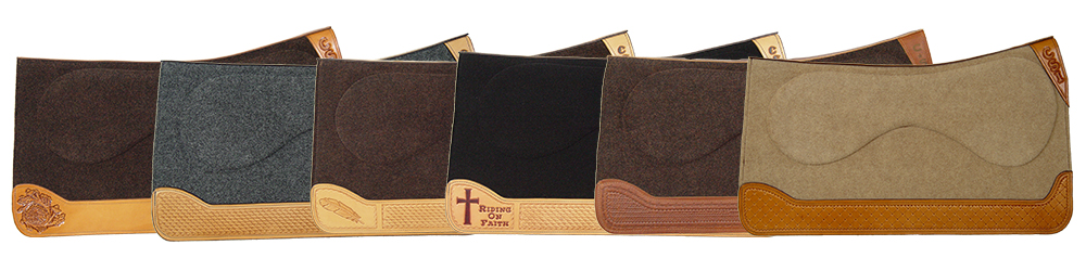 CSI Saddle Pad Custom Tooling Options | Call to order your own custom saddle pad today