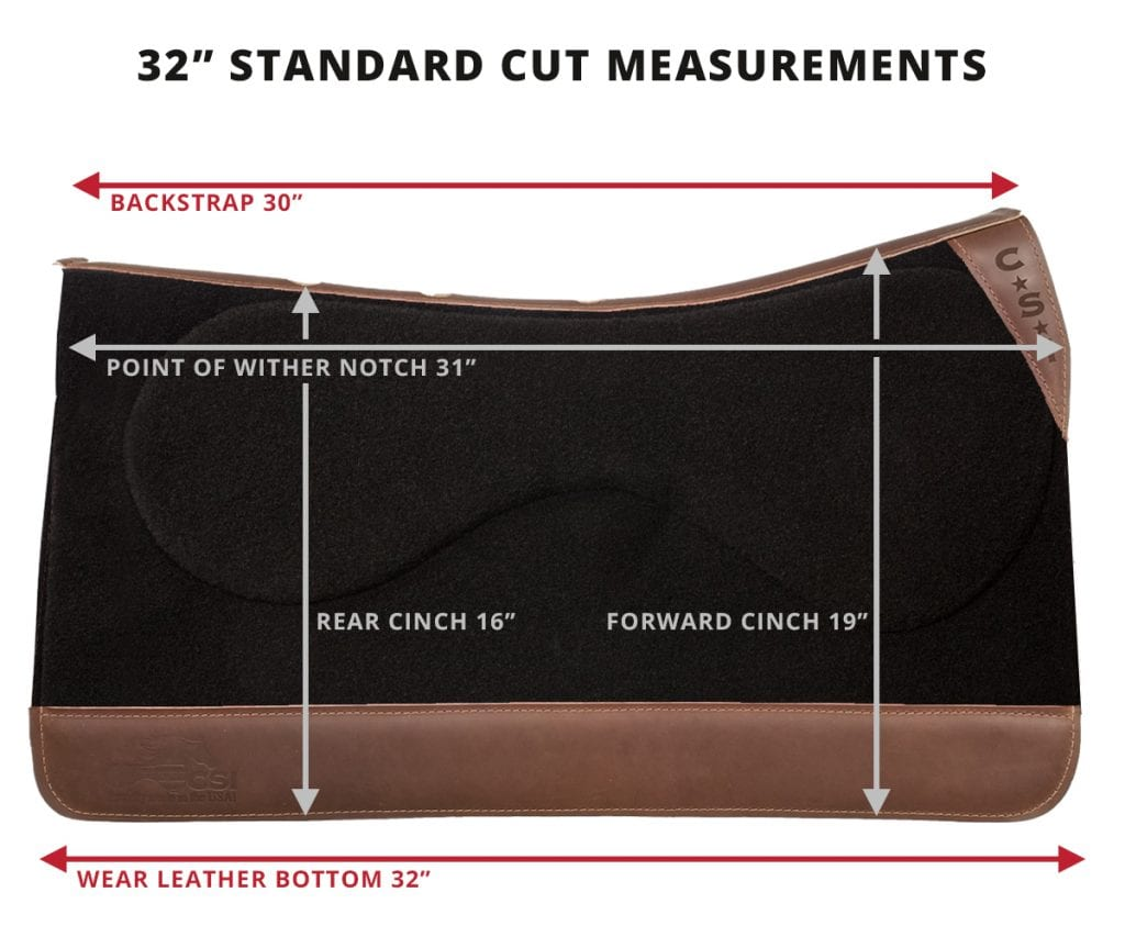 Standard Cut Measurements - 32""