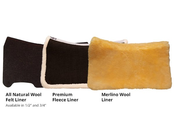 CSI Saddle Pad's Liner Options