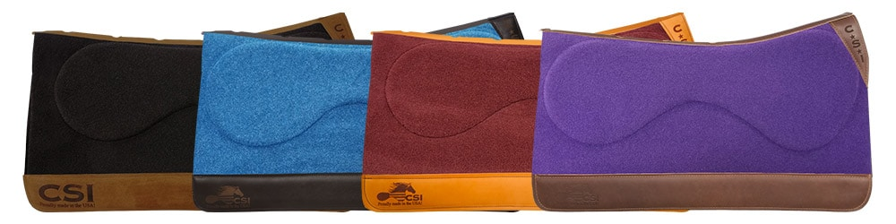 CSI Saddle Pad's Standard Western Cut Options
